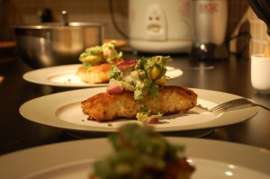 Coconut Crusted Cod with Mango Salsa